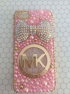 Kawaii Michael Kors Pink and Gold Iphone 5 5/S case