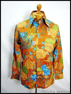 psychedelic floral disco 70s shirt