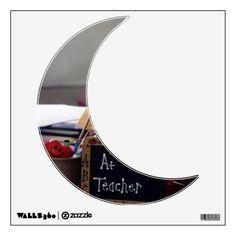 #1 Teacher Moon Wall Decal