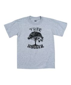 Look what I found on #zulily! Athletic Heather 'Tree Hugger' Tee #zulilyfinds