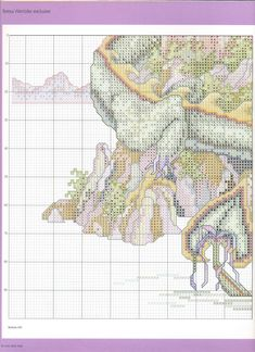 The Castle (Theresa Wentzler) From Cross Stitch Gold 5 of 7 Dragon Cross Stitch, Fantasy Cross Stitch, Cross Stitch Fairy, Cross Stitch Designs, Cross Stitch Patterns, Cross Stitching, Cross Stitch Embroidery, Blackwork Patterns, Dragons