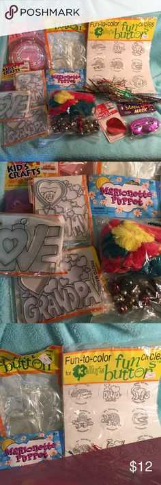 Kids craft bundle Girls are grown so selling this bundle of new kids craft items, you receive everything pictured.  Check out my other listing to save. Listing a lot of chat items.  Check out my other listing to save. Listing a lot of craft items. Other