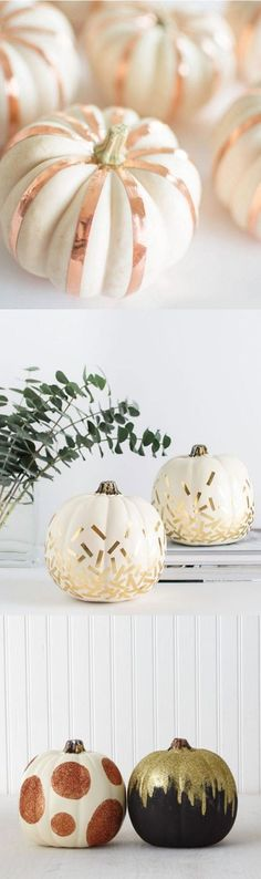 gold pumpkin decorating ideas                                                                                                                                                                                 More