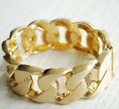 Glamzelle C*line Gold Chain Bracelet