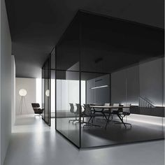 Rimadesio are unrivalled in the the design and manufacture of sliding doors, wardrobes, shelving units and contemporary furniture. Modern Office Design, Contemporary Office, Office Interior Design, Office Designs, Contemporary Design, Corporate Interiors, Office Interiors, Glass Partition Wall, Glass Office Partitions