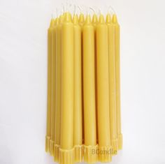 BCandle 100 Beeswax Candles Organic Hand Made  8 Inch Tall 34 Inch Diameter Tapers 16 -- See this great product.