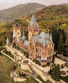 Location: Schloss Drachenburg Germany Photo selected by: Admin: . Location: Schloss Drachenburg Germany Photo selected by: Admin: . Beautiful Castles, Beautiful Buildings, Beautiful Places, Wonderful Places, Travel Photographie, Fantasy Castle, Castle House, Castle Rooms, Travel Aesthetic