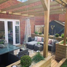 Outdoor Garden Bar, Backyard Garden Landscape, Backyard Patio Designs, Outdoor Pergola, Small Backyard Landscaping, Garden Spaces, Backyard Ideas, Outdoor Fun, Urban Garden Design