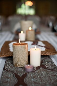 Zen Candles Tablescape: Setting Design.