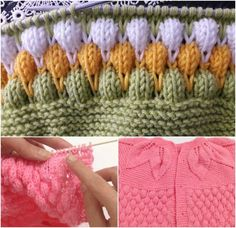 This Pin was discovered by HUZ Baby Knitting Patterns, Knitting Stitches, Knitting Needles, Crochet For Kids, Knit Crochet, Knitted Baby Blankets, Knitting Videos, Baby Cardigan, Knit Vest