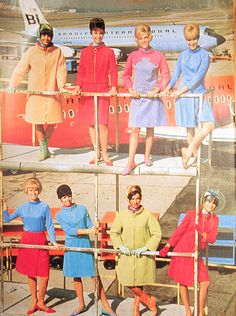Braniff was a small midwest airline that employed Girard and Emilio Pucci to redesign their livery, interiors, lounges and uniforms. What followed was a colour explosion. There were 65 planes done in seven different colours, the lounges featured Eames chairs, uniforms were space-age psychedelia...