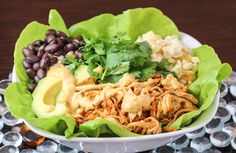 Chicken Carnitas Salad Bowls with Chipotle Cashew Cream