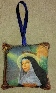 CAIXAS ARTESANAIS E OUTROS MIMOS: Sachê com imagem de Santa Rita de Cássia