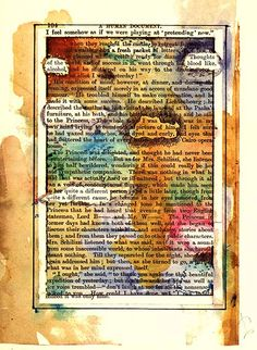 Tom Phillips HUMUMENT.COM: Page 104_ More book art. I love book art.
