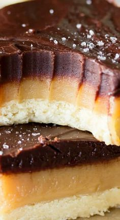 Simple shortbread, rich homemade caramel, and thick chocolate ganache sprinkled with sea salt make this rich and delicious Millionaire's Shortbread. Best Bread Recipe, Easy Bread Recipes, Sweet Recipes, Baking Recipes, Easy Desserts, Delicious Desserts, Dessert Recipes, Bar Recipes, Deserts