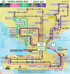 Visit Roam the Gnome Family Travel Directory for MORE SUPER DOOPER FUN ideas for family travel. Search by City. Photo- Kura Kura Bus Bali bus map 2018