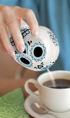 Sugar Skull Porcelain Sugar Shaker #product_design