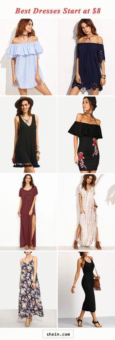 Best dresses start at $8