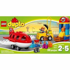 Get ready for take-off at the LEGO DUPLO Town Airport! Build the luggage check-in and make sure your suitcases are taken to the plane. Drive the refueling truck over to fill up the plane in this LEGO ...