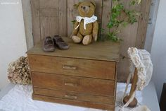 Petit meuble ancien e métier Brocante de charme atelier cosy.fr
