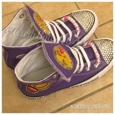 Emjoi Converse purple Converse girl Converse unisex shoes kids shoes purple  shoes bedazzled shoes bling converse emjoi shoes ncredibow b144d53c114d