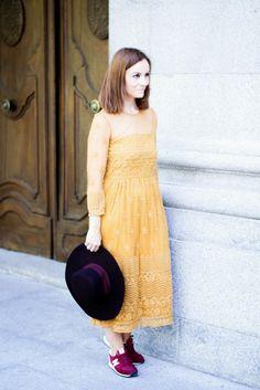 La Chimenea de las Hadas   Blog de Moda y Lifestyle   Buscando el lado bonito de las cosas: Vestido mostaza zara