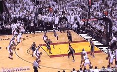 Every shot Lebron James took in the last game of the finals, overlayed into one GIF. I Love Basketball, Basketball Pictures, Basketball Jones, Last Game, Game 7, Gifs, Lebron James Nba Finals, 2013 Nba Finals, Entertainment