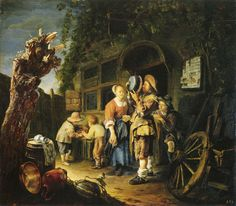 Oil Painting 'Style Of Adriaen Brouwer Four Peasants In A Cellar ' Printing On Polyster Canvas , 18 X 24 Inch / 46 X 60 Cm ,the Best Laundry Room Decoration And Home Decoration And Gifts Is This Vivid Art Decorative Prints On Canvas Dresden, Dutch Golden Age, Dutch Painters, Dutch Artists, Oil Painting Reproductions, Canvas Prints, Art Prints, Art Uk, Old Master