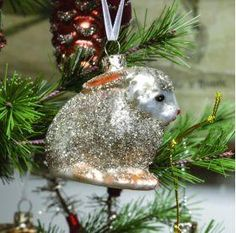 Mercury Glass Rabbit Ornament , Holiday Decor - Vintage Market And Design, Vintage Market And Design