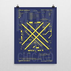 MDW Chicago (Midway) Airport Diagram Poster