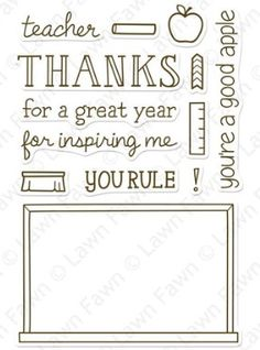 Lawn Fawn - Clear Stamps - A Good Apple
