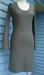 Spandex Dress - Green-grey 10