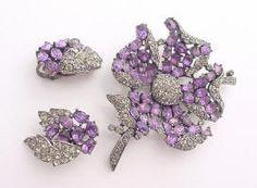 TRIFARI Brooch & Earrings Set