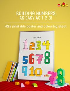 Is your little one starting to show an interest in numbers? Find out how to build numbers together using your LEGO DUPLO bricks and download a free printable poster! http://www.lego.com/da-dk/family/articles/building-numbers-should-be-as-easy-as-1-2-3-7add15fed6f24a4493aabc88b1eda302