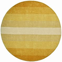 @Overstock - This handmade red stripe rug has shades ranging from natural yellow to lighter soft yellow that easily complements any room decor. The cotton backing makes the rug extremely durable while the 0.5-inch thick wool pile makes it soft to the touch.http://www.overstock.com/Home-Garden/Hand-tufted-Yellow-Stripe-Wool-Rug-8-Round/6579375/product.html?CID=214117 $179.17