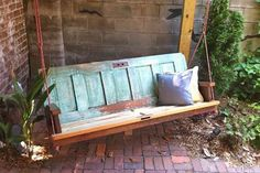 Backyard Wwing Made from Old Doors; An old door might seem like it should be scrapped, but with some great redo ideas, they will get a new life and become an awesome home decor project.