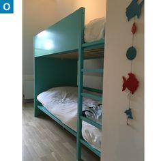Lits superposés bleu turquoise Habitat, une occasion cote-enfants.com …
