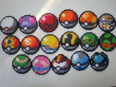 Poke Balls by 8-BitBeadsStudio.deviantart.com on @deviantART