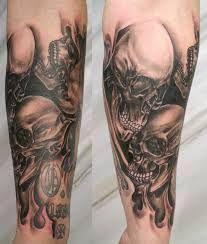Image result for forearm skull tattoo ideas