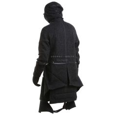 Aitor Throup Mongolia grey fishbone wool articulated jacket | RAILSO.COM  More Fashion here.