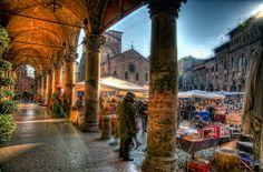 Piazza Santo Stefano, Bologna by sdhaddow, via Flickr