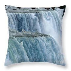 #NiagaraFalls with Curlicue Effect Throw #Pillow by Rose Santuci-Sofranko.... #sale #gifts #interiordesign #interiordecoration #decor #home #throwpillows #artwork #Christmas #presents #Artist4God #RoseSantuciSofranko #designer #waterfalls