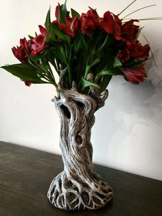 Tree Vase White Finish by Dellamorteco on Etsy