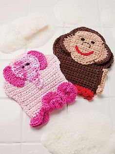 Bath mitts - so cute - might have to try these.
