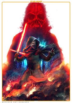 Kylo Ren // Star Was: The Force Awakens - Art by Onezork