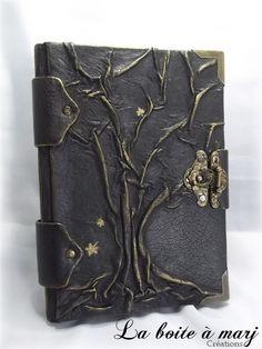 """Carnet d'artiste, Journal intime simili cuir """"l'arbre de vie"""""""