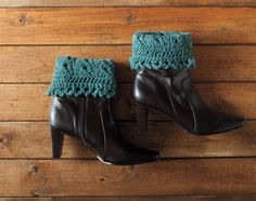 Quick-knit stashbuster: Pikabu Boot Toppers - New Pattern! - Nocturnal Knits