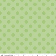 Riley Blake Designs - Dots - Medium Dots Tone on Tone in Green  Lots & lots of colors in this print