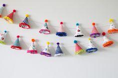 DIY: Party Hat Garland