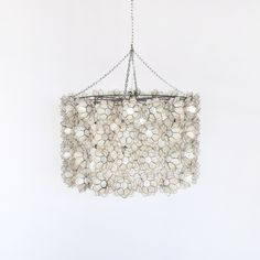 Peony Capiz Floral Pendant Light   Tonic Home